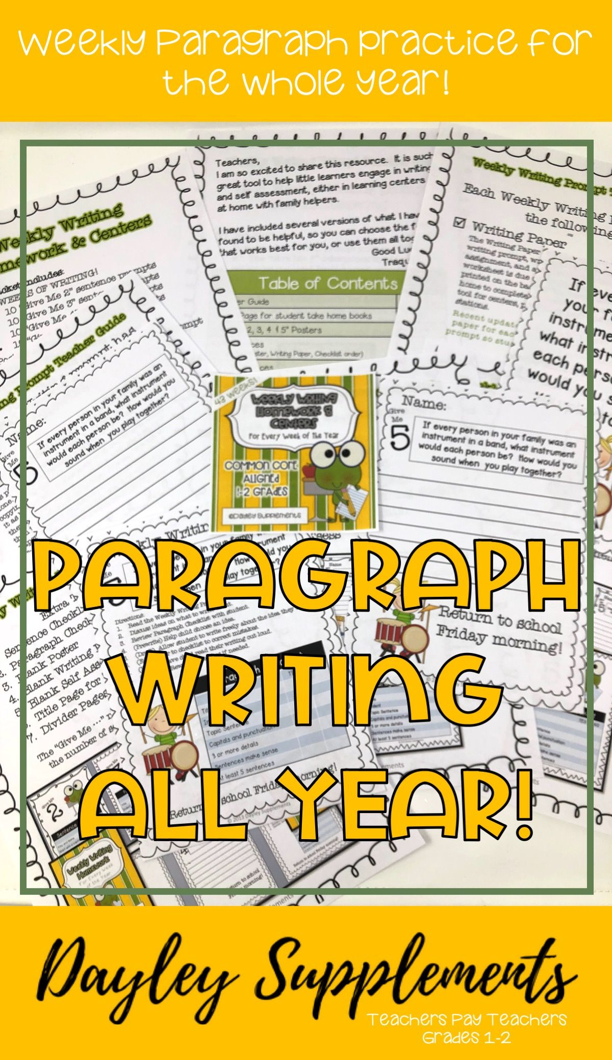 Paragraph Writing Practice Full Year Paragraph Writing Writing Practice Writing Rubric [ 2078 x 1200 Pixel ]