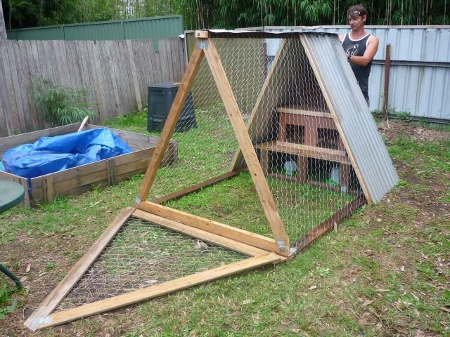 model mobile a frame chicken coop