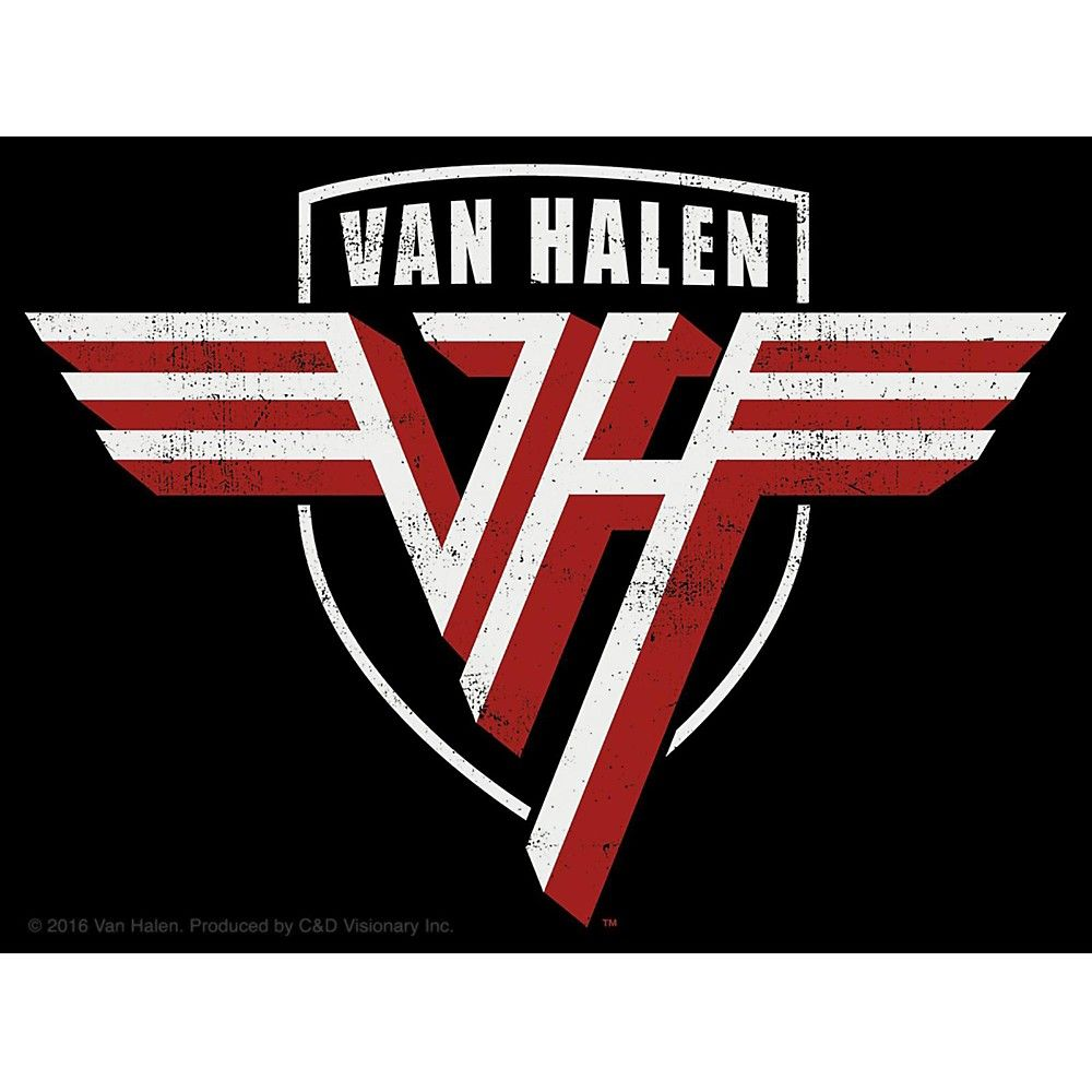 C D Visionary Van Halen Shield Sticker In 2020 Rock Band Logos Van Halen Logo Sticker