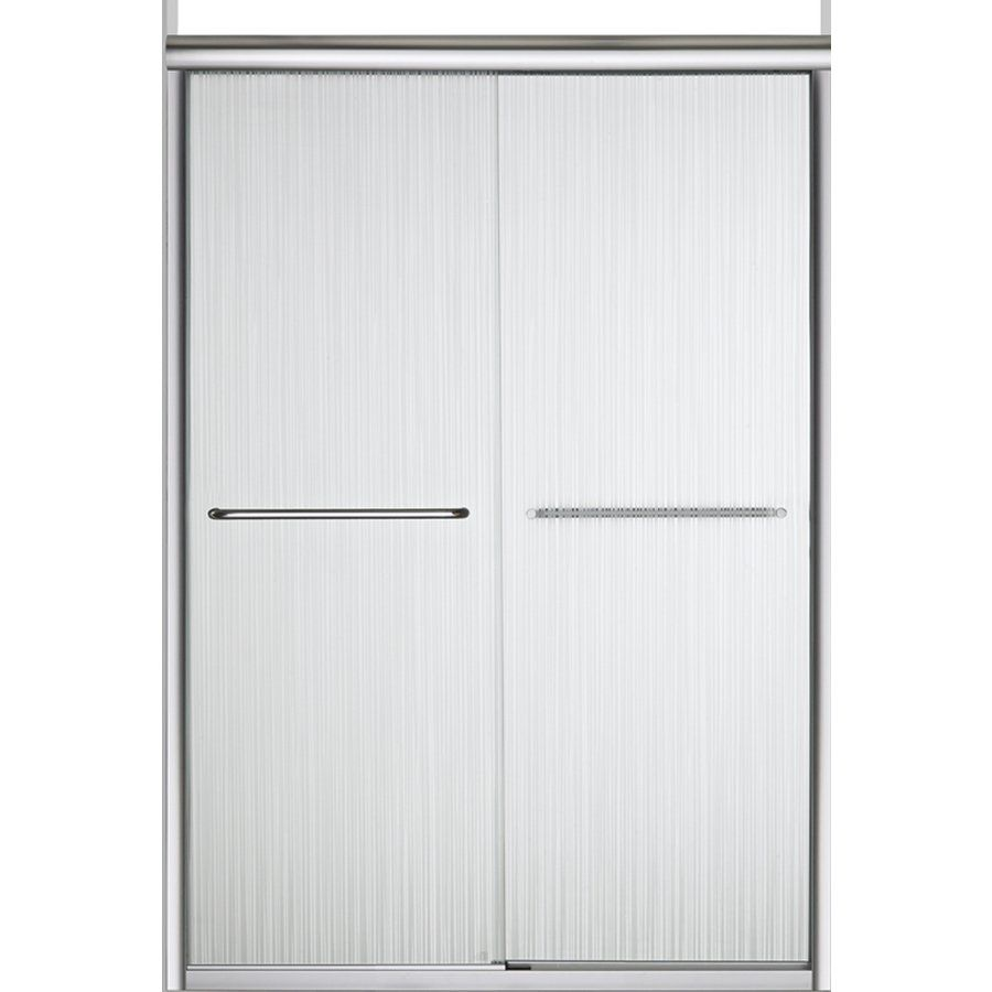 Sterling 5475-48S-G72 Finesse 47.625-in to 47.625-in W x 70.0625-in H Silver Sliding Shower Door | Lowe's Canada