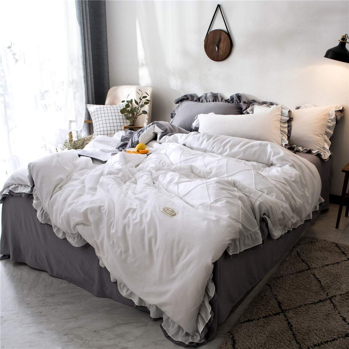 Farmhouse Duvet Covers Rustic Duvet Covers Farmhouse Goals In 2020 Farmhouse Bedding Sets Farmhouse Bedding Rustic Duvet Cover