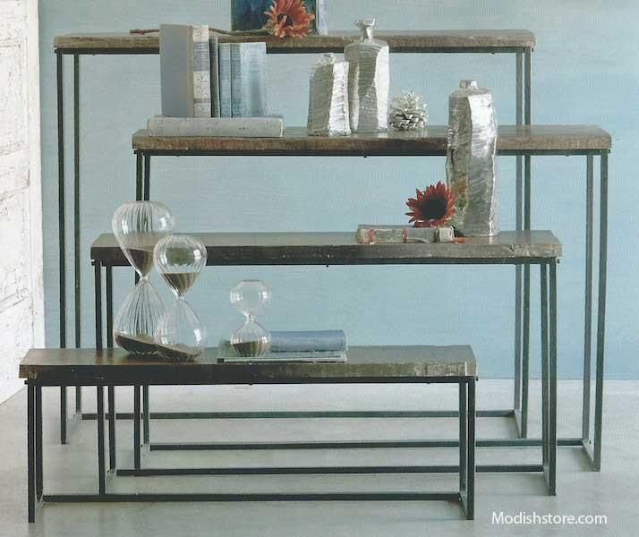 Roost Recycled Wood Nesting Console Tables Set Of 4
