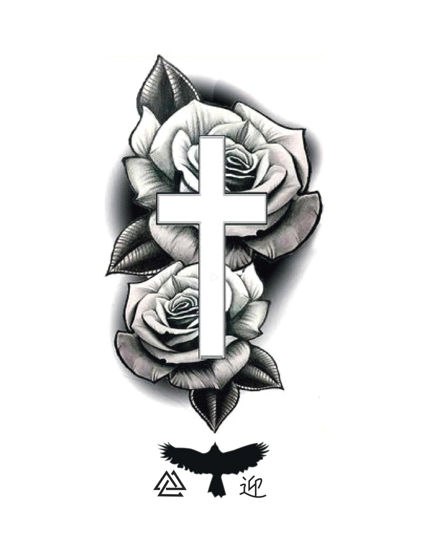 10 Tatuajes de rosas con cruz