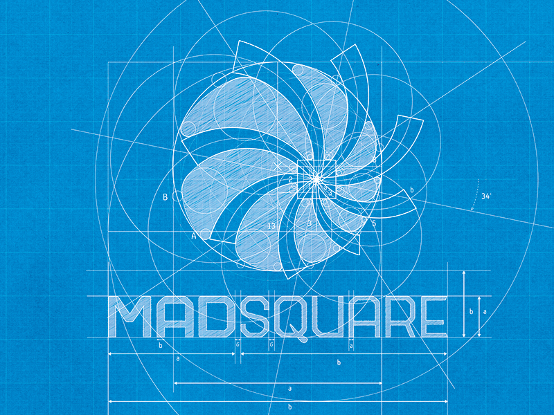 Madsquare logotype blueprint custom fonts logos and fonts madsquare logotype blueprint logo golden ratiologo processdesign malvernweather Images