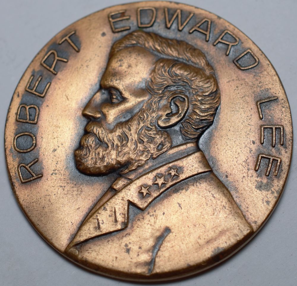 1929 ROBERT EDWARD LEE STRATFORD BIRTHPLACE 1729-1929 MEDAL-BRONZE-ROBERT E LEE