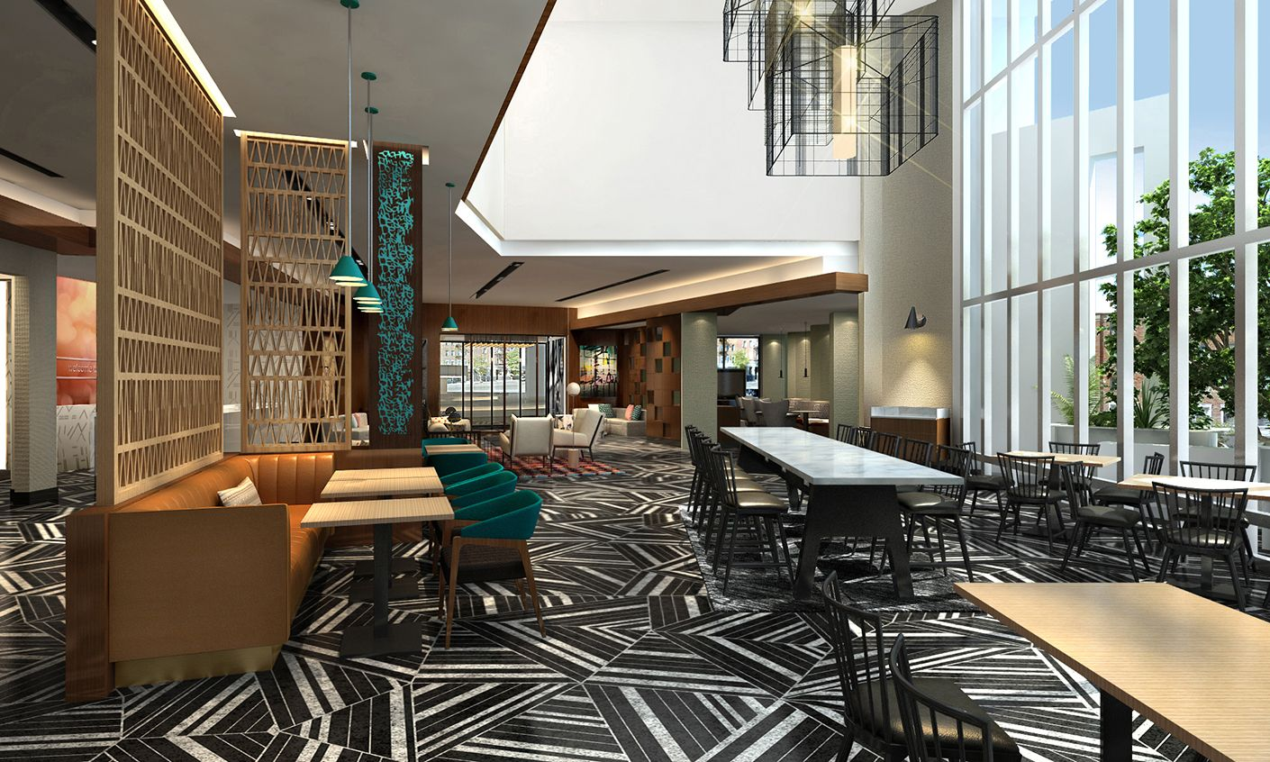Hampton inn suites located in korea town and little for Design consultant los angeles