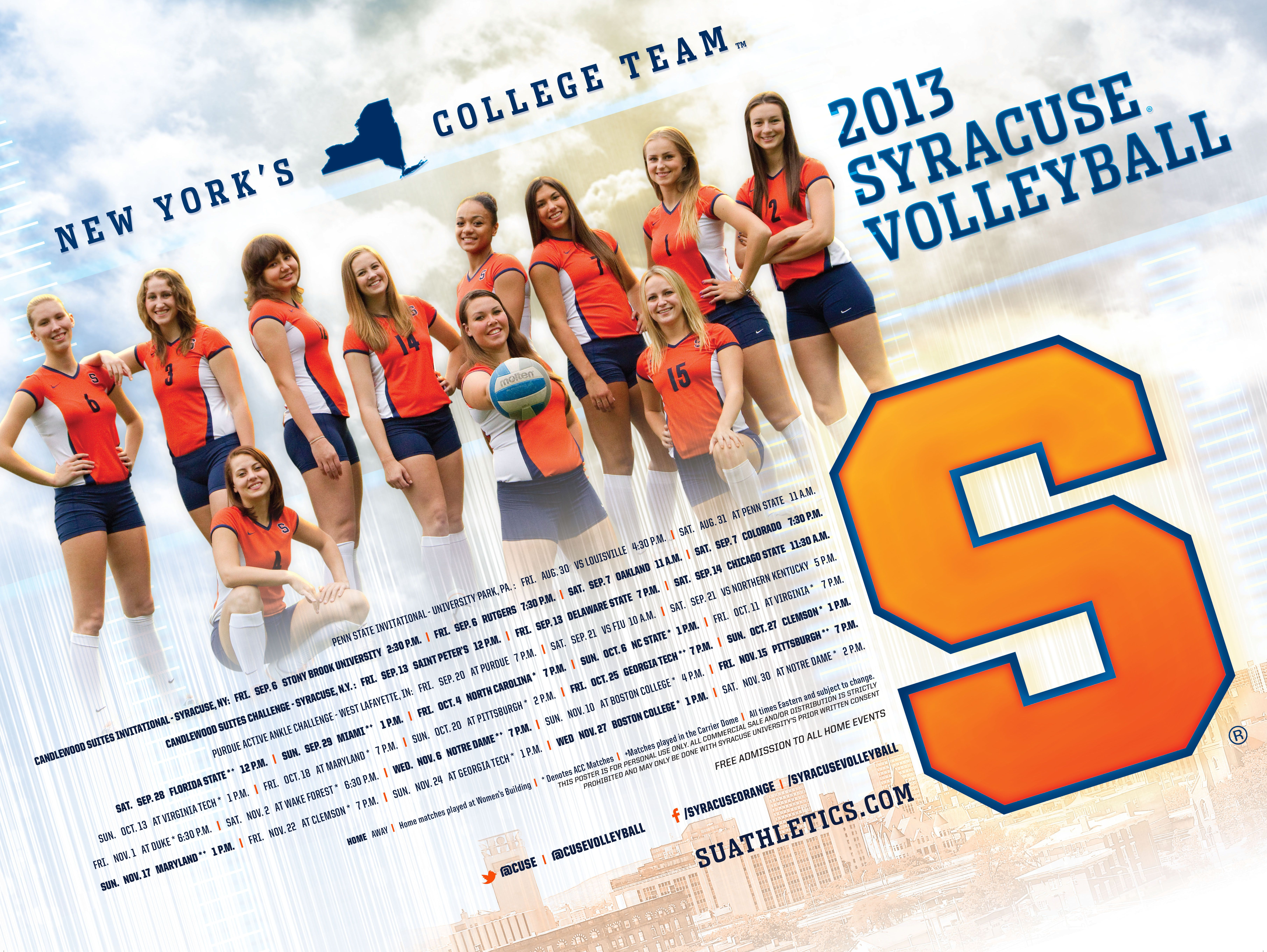 Syracuse Volleyball 2013 Volleyball Posters Volleyball Syracuse