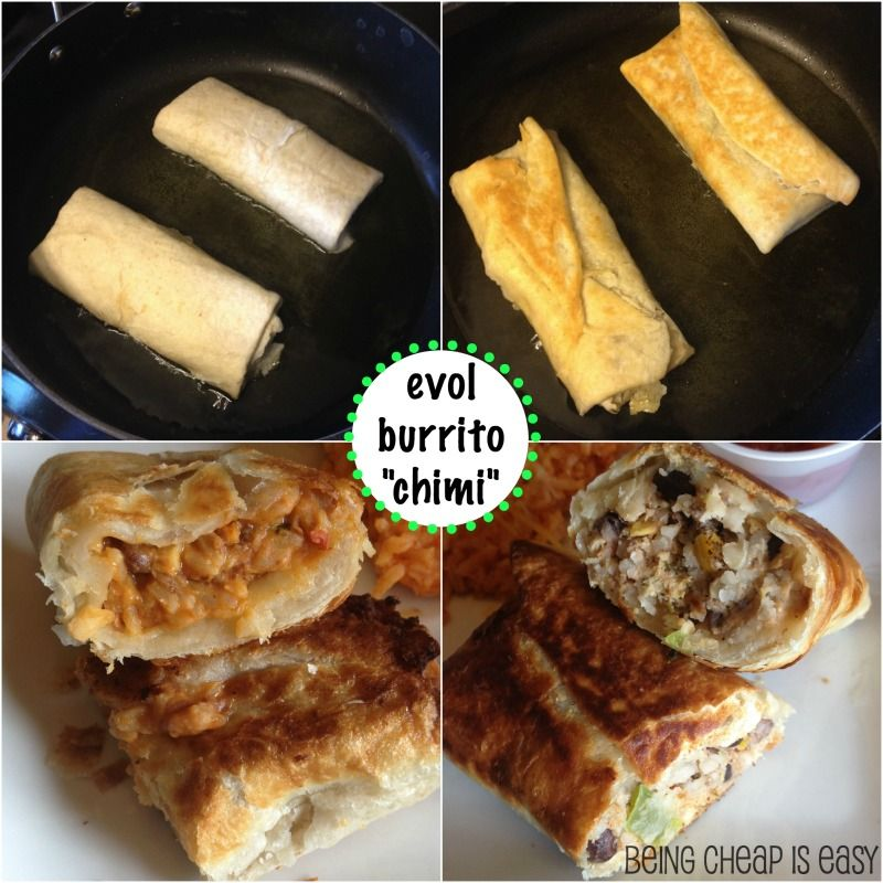 """Want a new way to cook your EVOL burrito from #Meijer? Make a """"chimi"""" and dinner is still on the table in less than 20! via Being Cheap is Easy"""
