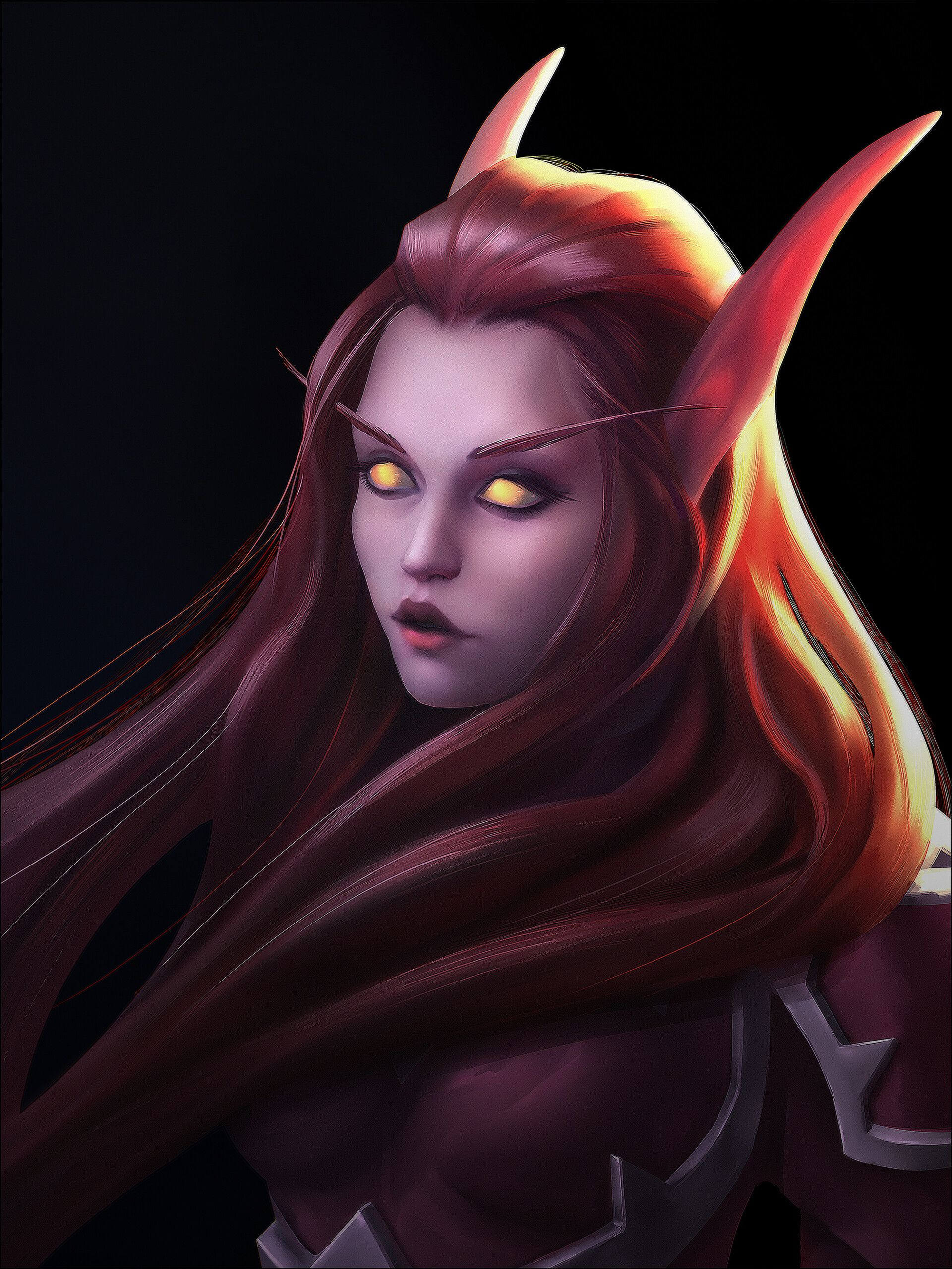 ArtStation - Warcraft blood elf girl fanart portrait, Alina Snit