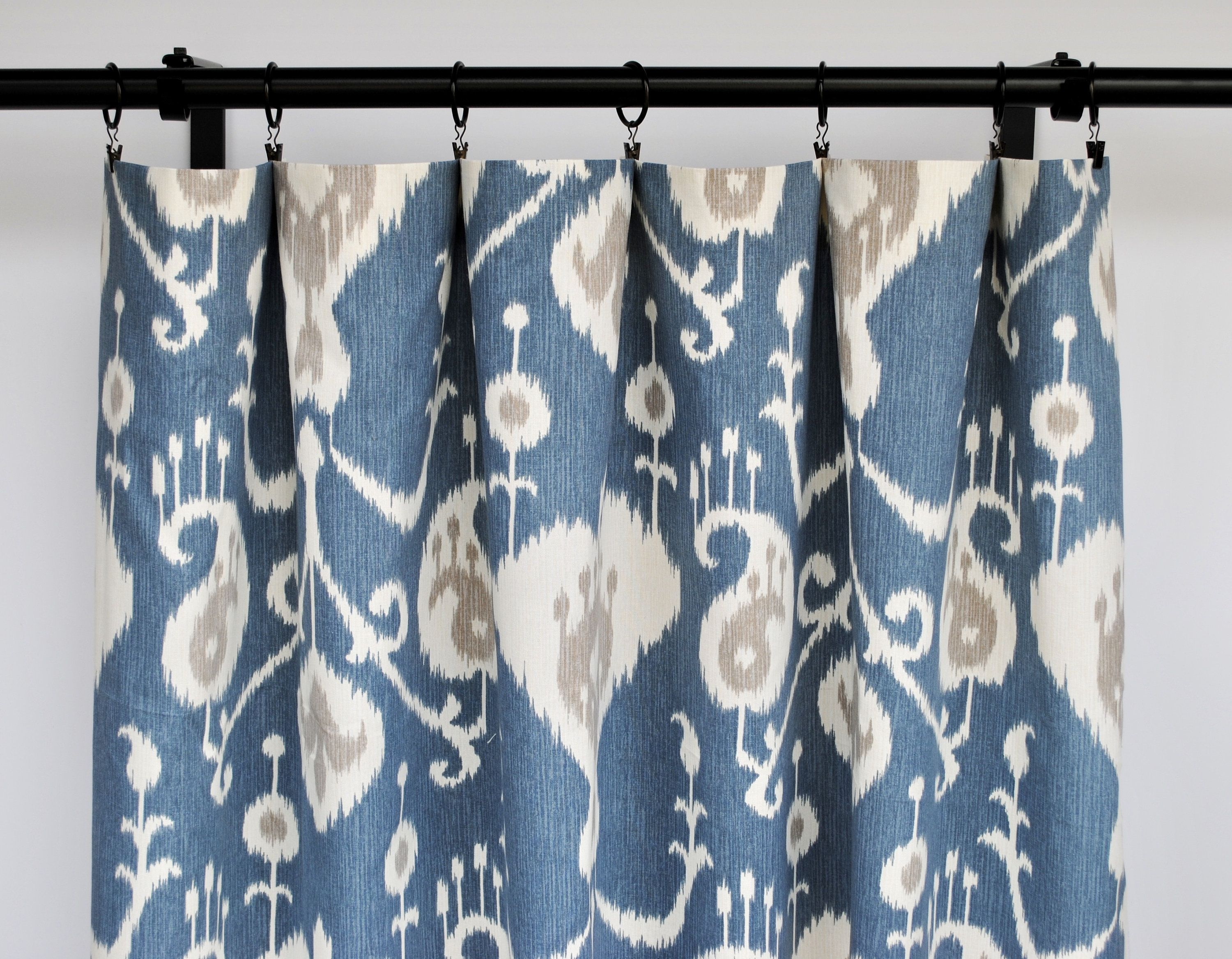 Magnolia Curtains Striped Blue Tan Curtain 2 Curtain Panels Curtains Home Decor Taupe Grey Curtain By Thatdutchgirl Tan Curtains Curtains Panel Curtains