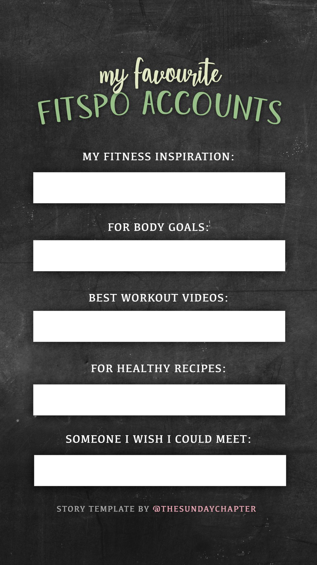 Instagram Story Template Fitness Story Template Instagram Story