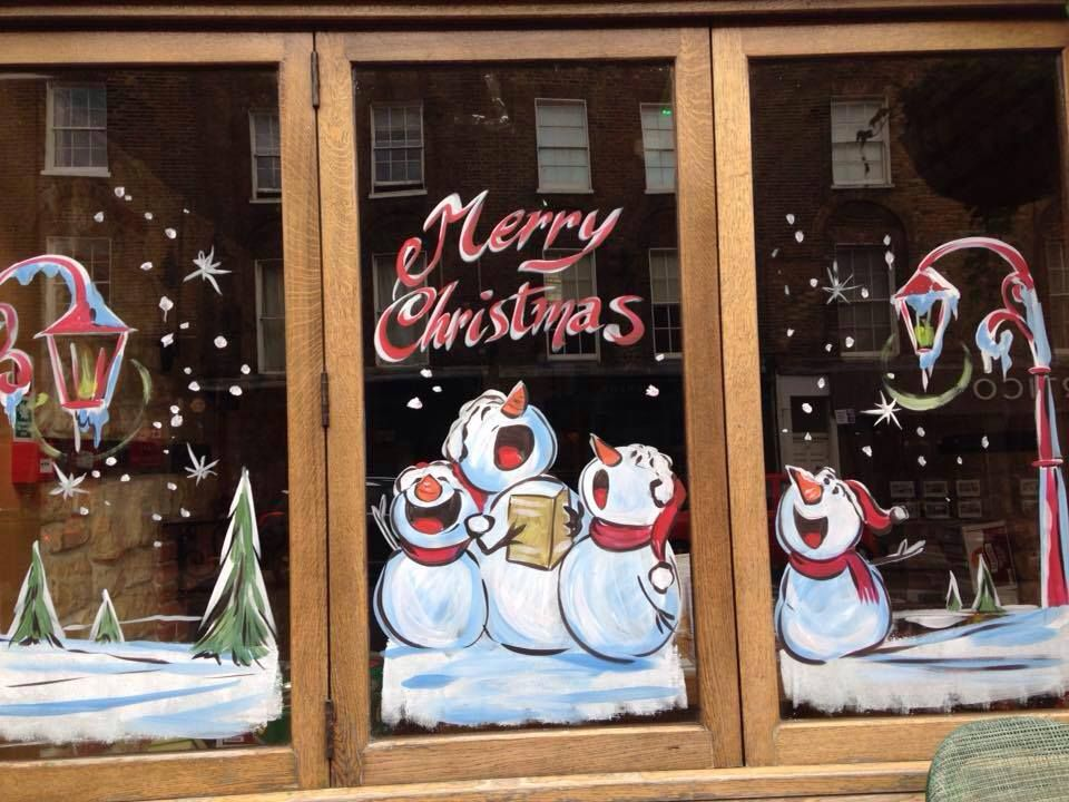 Image Result For Christmas Window Painting Christmas Window Painting Christmas Paintings Window Crafts