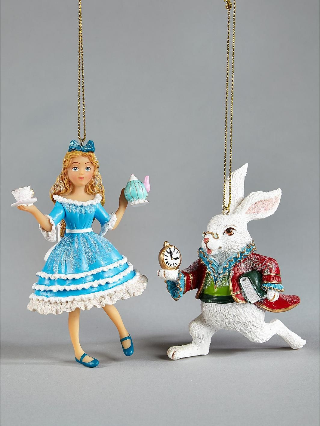 Gisela Graham Alice In Wonderland Hanging Christmas Tree Decorations (2 Pack),  Http: