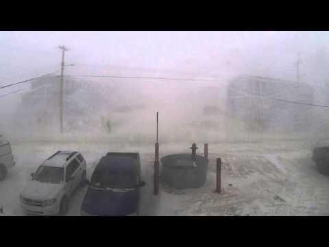 Guy Going For A Walk During The Blizzard - #funny