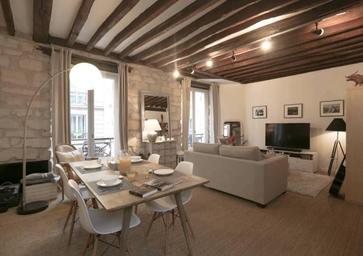 Décoration d\'un appartement ancien: Salon de style Moderne ...