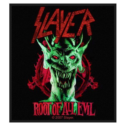 Slayer Sew-on Patch: Root Of All Evil Ref:SP2198
