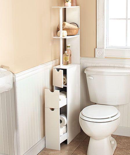Linen Cabinets for Bathrooms Espacios pequeños, Pequeños y Espacios