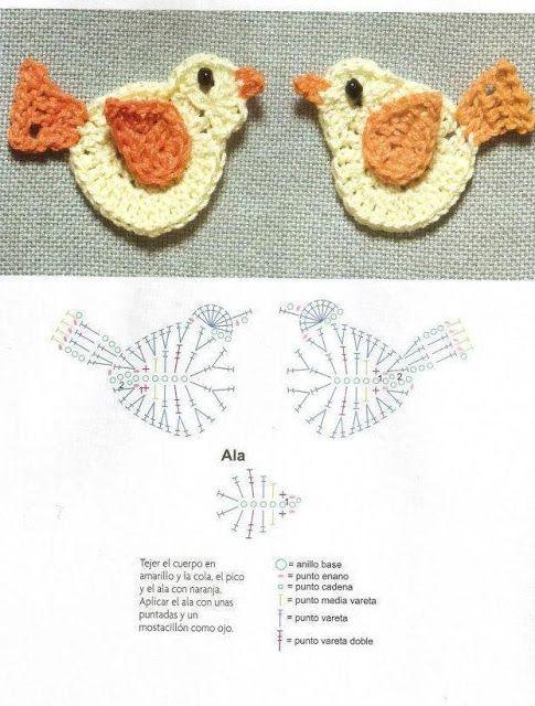 Solo esquemas y diseños de crochet | Pájaros | Pinterest | Croché ...