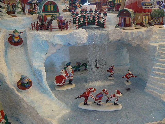 Christmas Village Display Platforms.Darcy S Huge North Pole Display Christmas Christmas