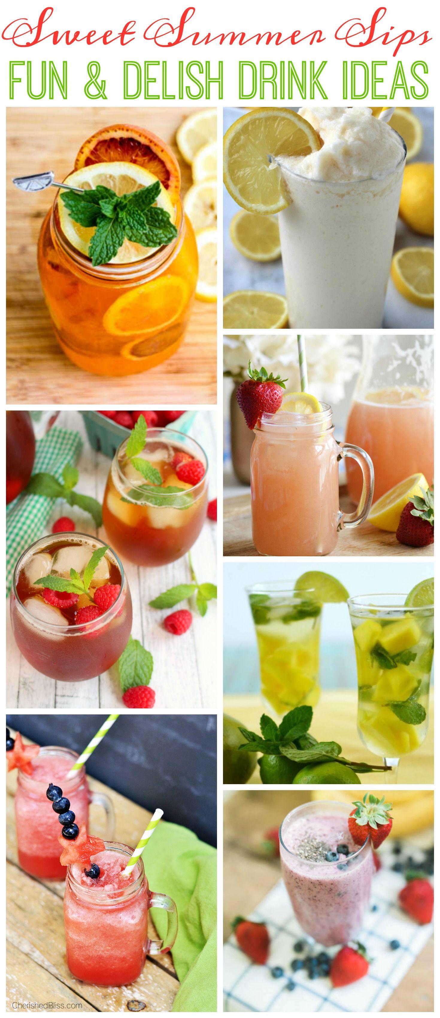 fun delicious sweet summer drink ideas pinterest drink recetas