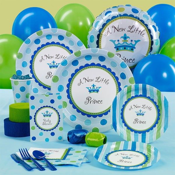 prince baby shower theme  new little prince baby shower supplies, Baby shower invitation