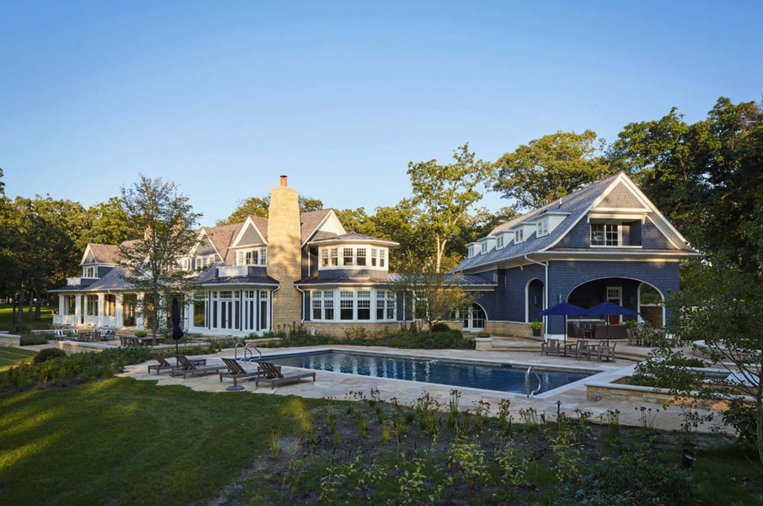 Shingle style home in illinois features interiors with understated elegance shingle style homes residential architect