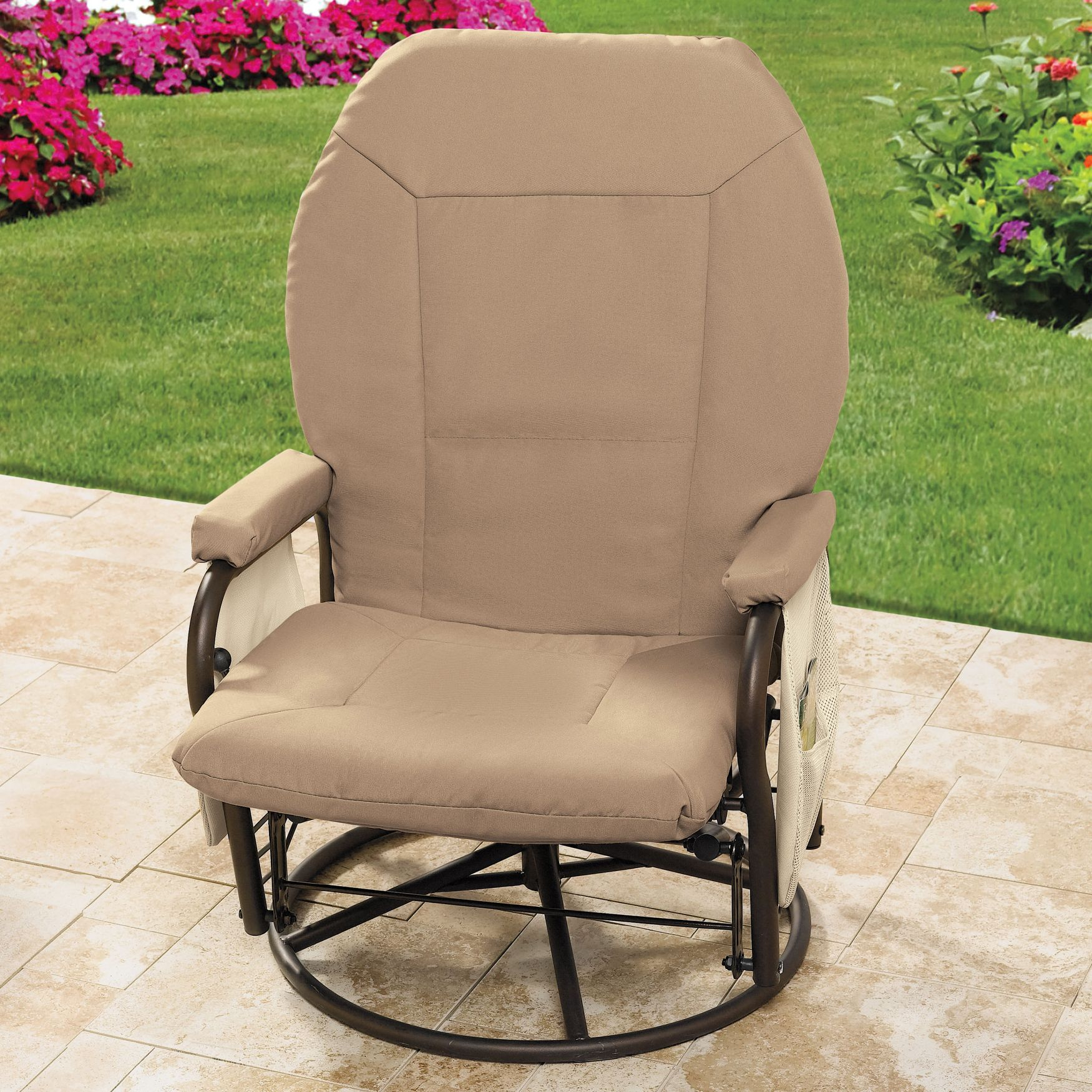 Extra Wide Outdoor Glider Patio Furniture Brylanehome