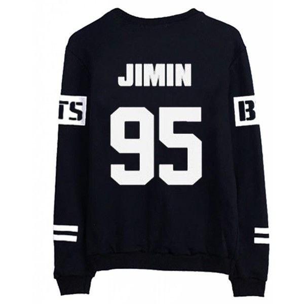 BTS Bangtan Boys Black Hoody Sweater Pullover Shirt (84 PLN) ❤ liked on  Polyvore featuring bts 2523680a1cb91
