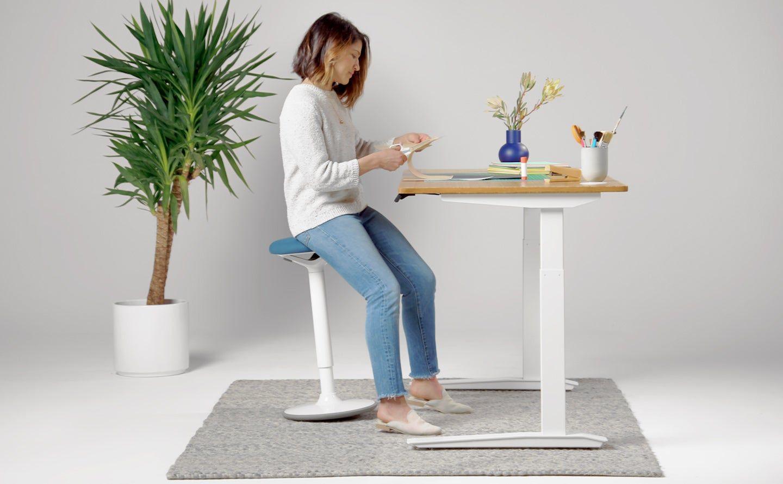 Luna Standing Desk Stool In 2020 Desk Stool Standing Desk Stool Desk