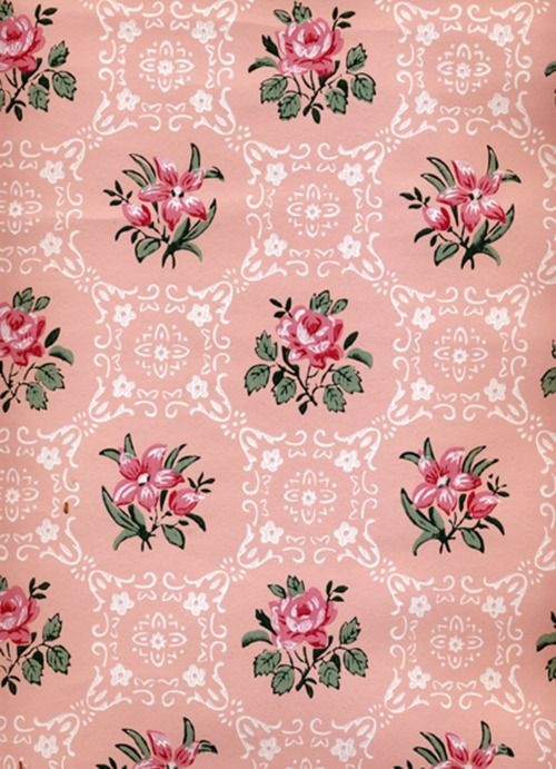 Shabby Chic IPhone Wallpaper Uploaded By Vintage Pink Roses W White Floral Medallions On
