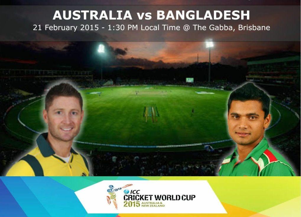 Australia vs Bangladesh Cwc15 Match 11 Live ScoreAus vs