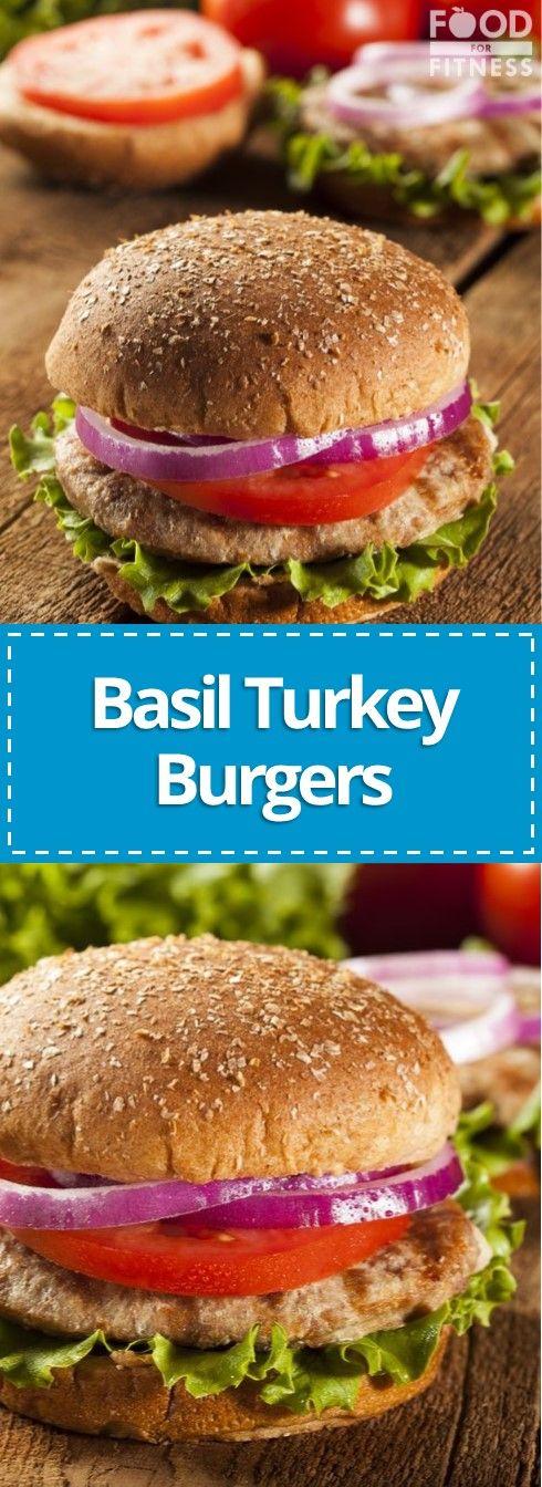 Sun-dried Tomato & Basil Turkey Burgers Recipe   Food For ...