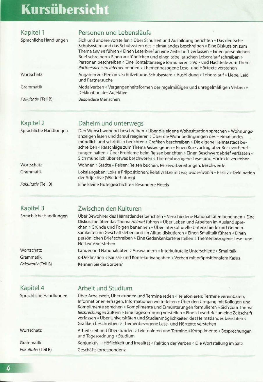 Erkundungen B2 Lebenslauf, Partnersuche, Deutsches