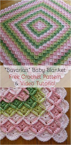 Cozy Bavarian Baby Blanket Free Crochet Pattern Video Tutorial