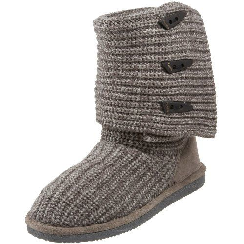 BEARPAW Women's Knit Tall Boot, Gray II, 8 M US *** This