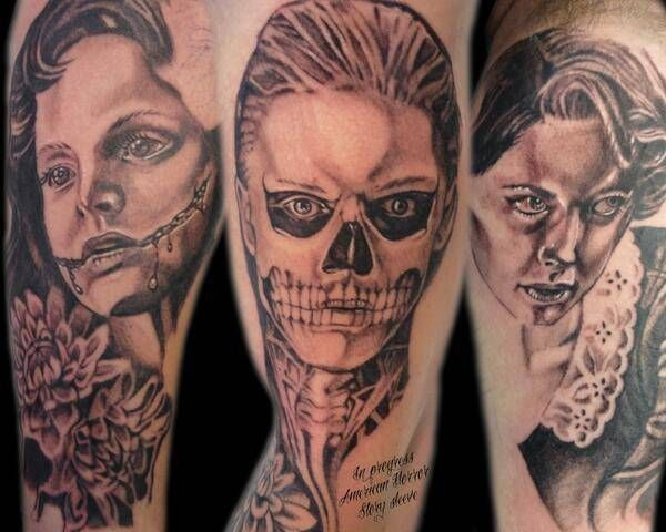 25 Incredible Tattoos Inspired By American Horror Story American Horror Story Tattoo Story Tattoo Horror Tattoo