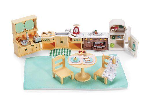 amazon : calico critters kozy kitchen : dollhouse furniture