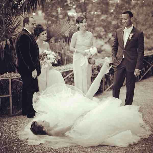 crissy tegan wedding dresses |  chrissy teigen! her maids look