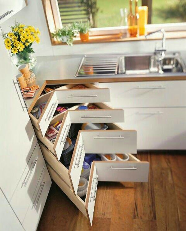 Armarios para ahorrar el espacio en cocinas peque as - Ideas para cocinas pequenas ...