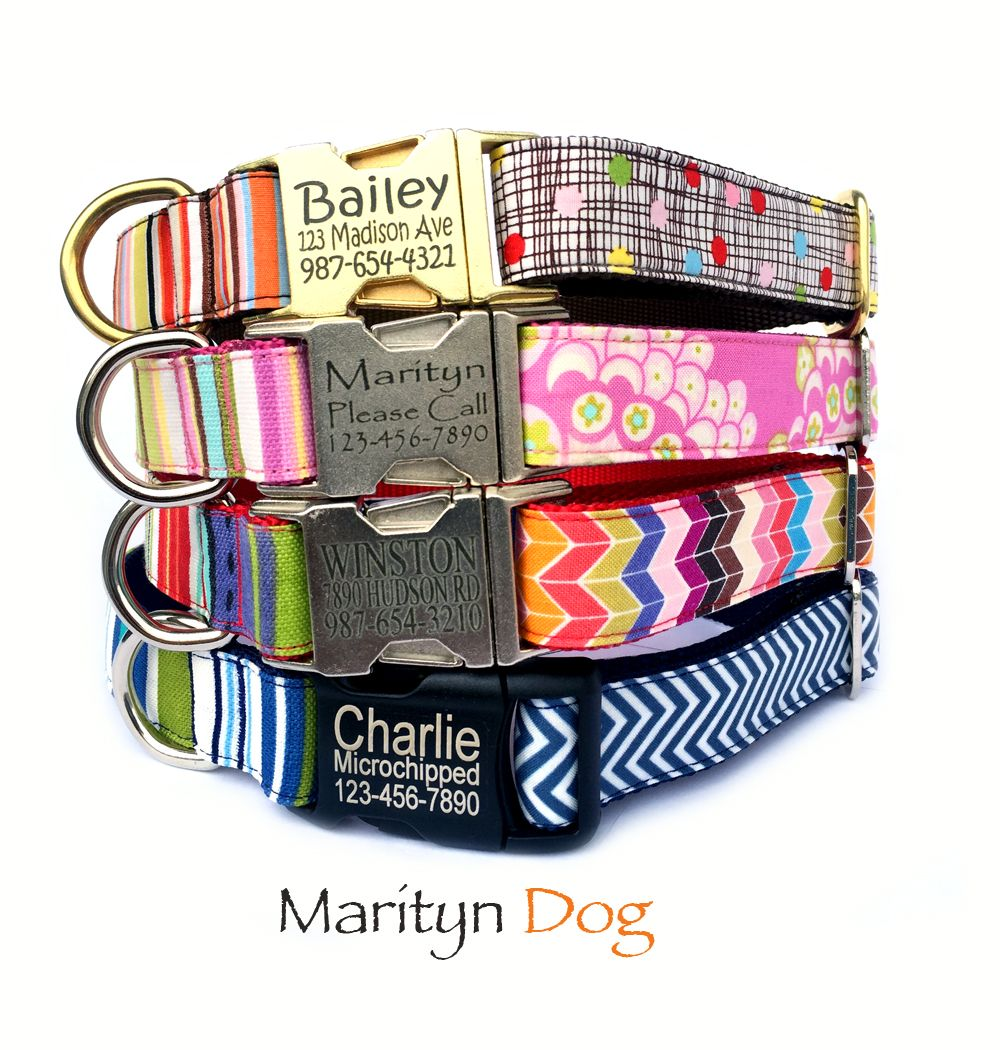 Please visit my Etsy dog collar shop. Go tagless with