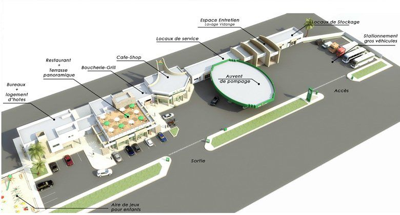Future Gas Station ZIZ In Tangier Picture gallery (With