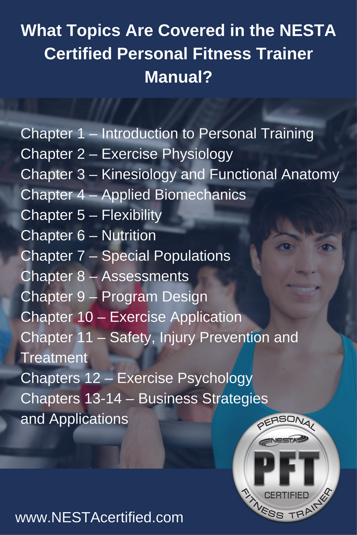 NESTA Personal Fitness Trainer Certification Coverage