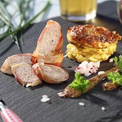 Chef recipes   Kartoffelkuchen, Speckmantel und Deutsche küche