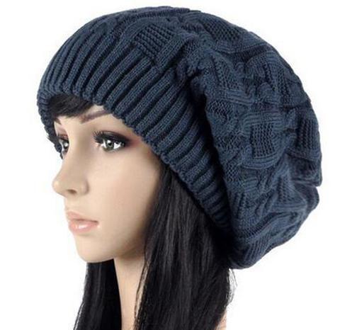 c69950e03cf Women Warm Casual Beanies Stripes Knitted Female Hat Autumn Winter Cap For  Girl