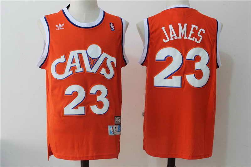 8870947b4 ... 21 cleveland cavaliers 23 lebron james orange hardwood classics soul  swingman throwback mens stitched jersey