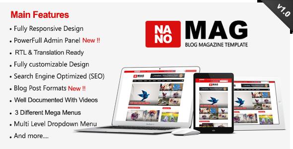 NanoMag - Responsive Blog & Magazine Blogger Template . NanoMag - Responsive Blog & Magazine Blogger Template