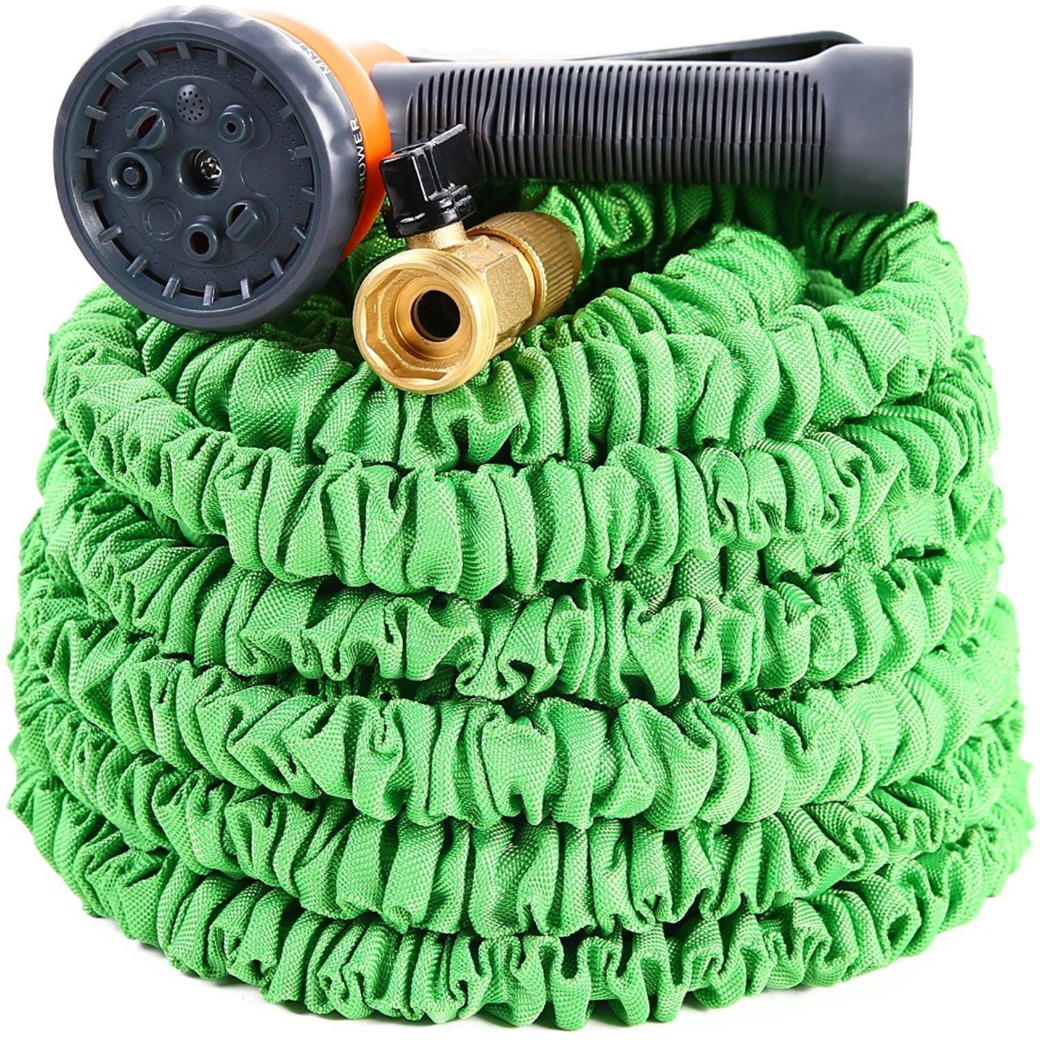YeStar Expandable Portable 50Ft Garden Coil Hose 3/4 Solid