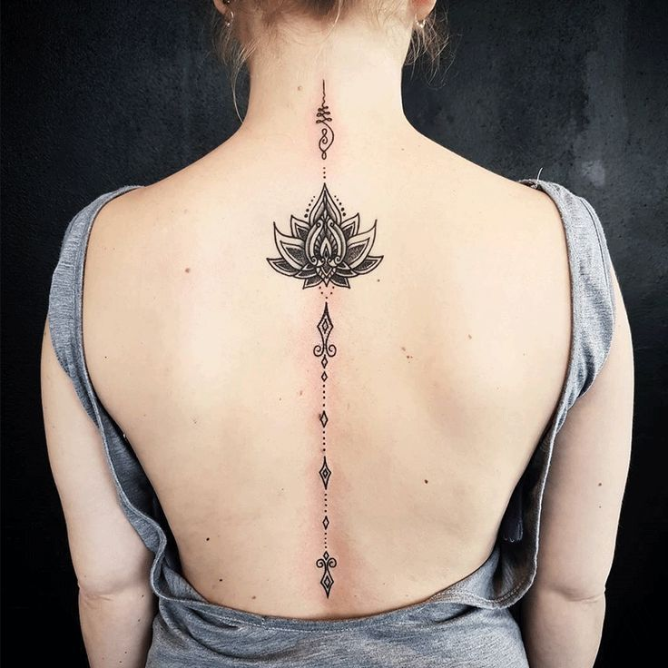 Image Result For Female Back Tattoo Ideas Tattoosonbackspine Tattoos Spine Tattoos For Women Spine Tattoos