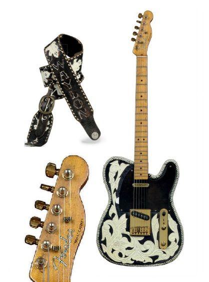 Waylon Jennings Fender Telecaster Tooled leather cover | Guitars ...
