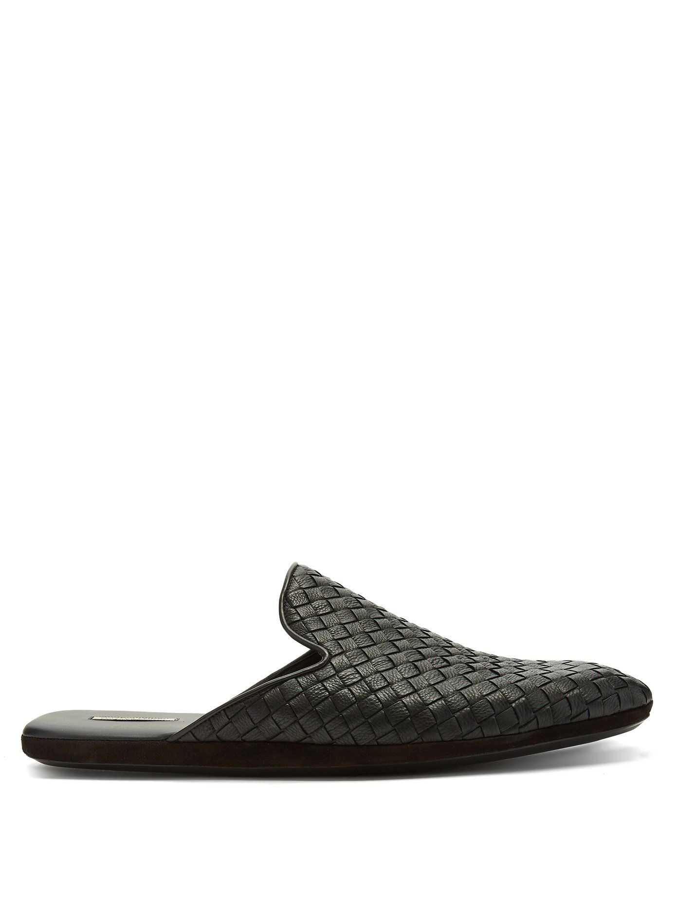 902fd5f0936d0 Bottega Veneta Intrecciato leather slipper shoes | Shoes | Leather ...